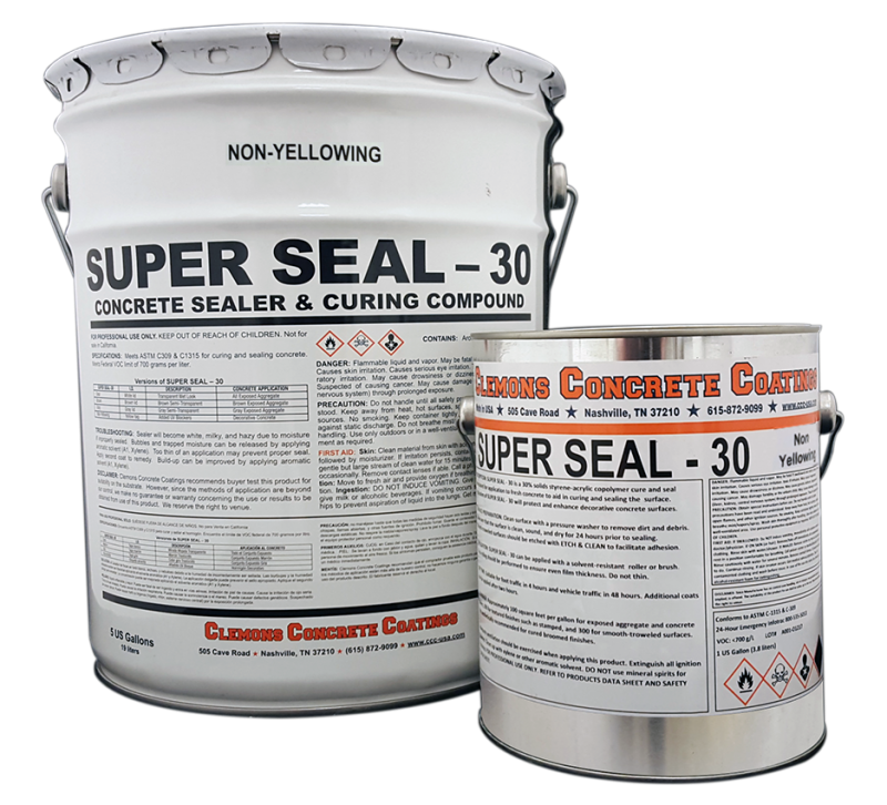 Clear Wet Look Concrete Sealer