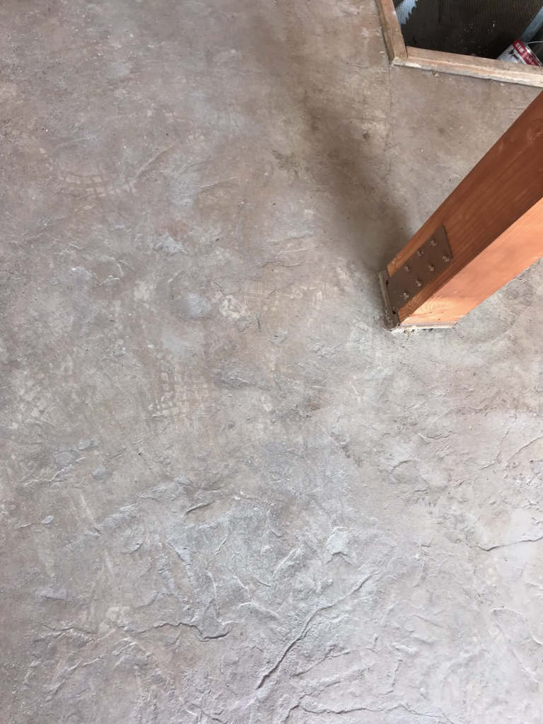 how to get rust off stamped concrete